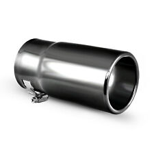 Car Muffler Exhaust Tip, Black Stainless Steel Tail Pipe , Fit 2.5 inch Diameter