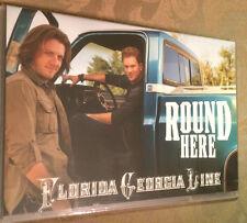 "Florida Georgia Line ""Round Here"" DJ PROMO CD Single Mint 2013 Long Box LYRICS"