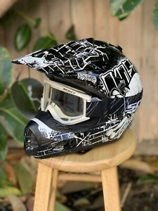 O'Neal 3 Series Off-Road Dirt Bike Racing Motocross MX Helmet Youth XL Goggles