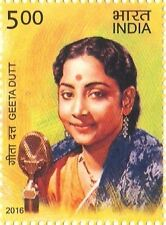 INDIA 2016 LEGENDARY SINGERS : GEETA DUTT MNH STAMP CINEMA THEME