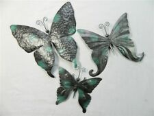 Butterfly Wall Art Ornament Metal Butterflies Wall Hanging Set Of 3 Assorted