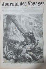 JOURNAL DES VOYAGES N° 151 de 1880 AFRIQUE REVOLTE BOERS INCIDENT PENDAISONS