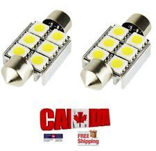 2Pcs Festoon 36mm DC 12V 6SMD LED Car Light Dome Reading Map Roof Light Bulb
