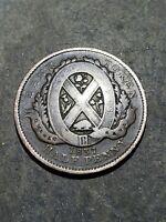 1837 Canada Un Sou City Bank Province Du Bas  Half Penny Token #111