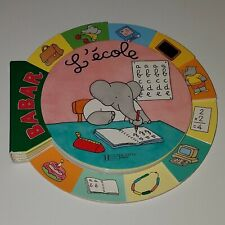 BaBar L'ecole Board Book Baby Toddler BOOK IS IN FRENCH Never Read VHTF