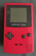 NINTENDO GAMEBOY GAME BOY COLOR CGB-001 console BERRY no battery cover WORKS GBC
