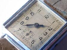 FORT PARTS pour PIECES old Watch ANCIEN MONTRE uhr VINTAGE cadran carré 25x25mm