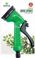 4 Función Spray Pistola Manguera de Jardín Bloqueable Riego Plantas Boquilla