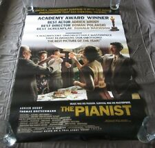 RARE HUGE MOVIE POSTER THE PIANIST STARRING ADRIEN BRODY CHECK IT OUT