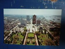 south view from louisiana capitol baton rouge USA  postcard