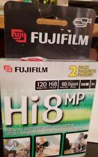 NEW Sealed 2-Pack FUJIFILM HI8 MP 120 Professional Grade Blank Video Cassette