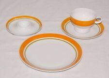 Arzberg Inglaze orange 70er Jahre Porzellan Kaffeegedeck Eierbecher Kaffeetasse