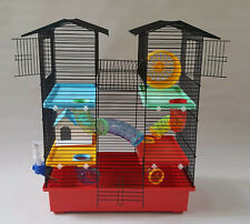 Large Hamster Cage with House Water Bottle Tube Wheel Animals Mouse Pet Rodents