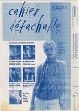 Blouse en soie imprimée & 6 ouvrages. 05/2004,Vintage. Neuf non découpé.