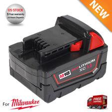 18V For Milwaukee 48-11-1852 Extended Capacity Batteries M18 XC 5.0 48-11-1850