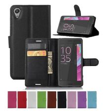 Wallet Leather Flip Card Case Pouch Cover For Sony Xperia X Genuine AuSeller