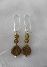 Agate Hook Round Natural Costume Earrings