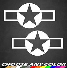2 USAF WWII Aircraft Insignia USAF Stickers Military Roundel Decal Sticker Car