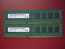 DUE RAM MICRON PER 4GB PC3 -12800 DDR3 - 11-11-A1 TOTALE 8 GB   1408     P021