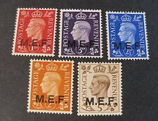 "ITALIA ITALY 1942 M.E.F "" Fr.di Gran Bretagna SVR"" 5V.Cpl set MNH*/VLH signed"