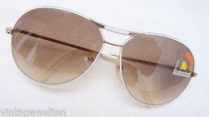 Rodenstock Sunglasses Ladies Braun Gradient Large Glasses White Gold Pilot Sz. L