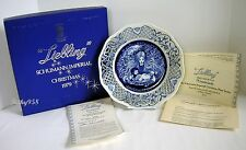 """""""LIEBLING"""" SCHUMANN IMPERIAL CHRISTMAS PLATE 1979 ~ EXCELLENT CONDITION IN BOX"""