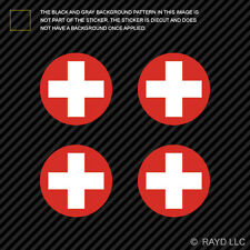 "(4x) 1.5"" Swiss Air Force Roundel Sticker Die Cut Decal Switzerland CHE CH"