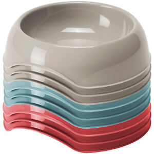 Cat Kitten Bowls Double Dishes Pet Feeding Food Water Drink Plastic CatCentre®