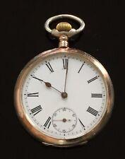 Rare Antique Solid Silver Omega Gurzelen Pocket Watch c.1890  / montre gousset