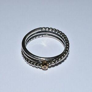 Pandora Rising Star, Silver Ring, 14k, 0.01ct TW H/VS Diamond Size 56 190243D