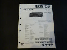 ORIGINALI service manual Sony xr-c210/c212