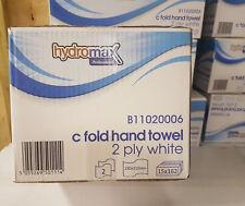 White C-Fold hand towel 2ply Hydromax