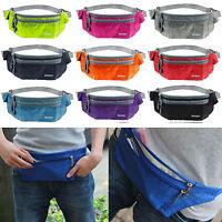 Women Men Travel Waist Fanny Pack Sports Money Belt Wallet Purse Bum Bag Pouch