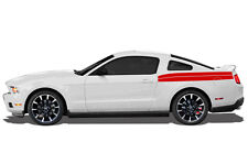 Vinyl Graphics Decal Rear Double Stripe Wrap Kit for 2010-14 Ford Mustang GT RED