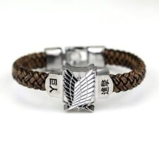 ATTACK ON TITAN WINGS OF LIBERTY LEATHER BRACELET. NEW.
