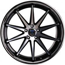 Rohana RC10 19x8.5 5x112 et42 Black/Chrome Lip Rims Fits VW cc eos golf rabbit