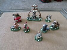 New ListingCharming Tails lot of 8 Animals Getting Married Here Comes the Bride Mice