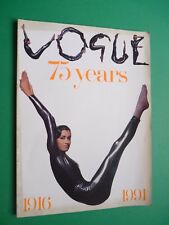 VOGUE UK supplement of June 1991 The 75 YEARS ANNIVERSARY ISSUE 1916 -1991