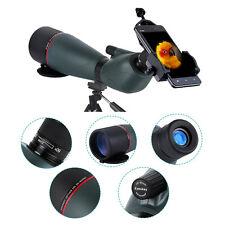 20-60x80 Zoom Bird Spotting Scope Telescope w/Phone Adaptor fr Hunting Monocular