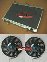 3 ROW Aluminum Radiator+Fans for Nissan Silvia S14 S15 SR20DET 240SX 200SX MT