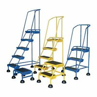 Vestil Commercial Rolling Ladder - Spring Loaded 2 Steps 300-Lb Capacity LAD-2-Y
