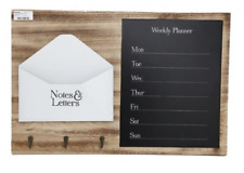 Letter Memo Board And Weekly Planer Message Notice Holder Unit With 3 Hooks
