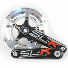 FSA SL-K Light BBright Carbon Road Bike Crankset 50/34 10 Speed 175mm//Silver
