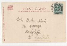 Miss B M Stock The Vicarage Rockcliffe Carlisle 1903 331a