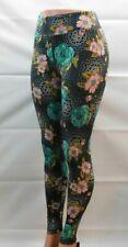 Lularoe Legging One Size OS Black & Green Soft