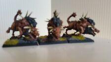 3x Warhammer Fantasy Beastman Army  caos Spinogor metal painted