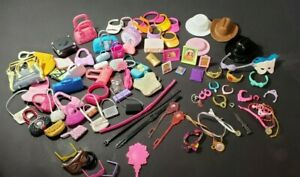 BARBIE AND OTHER DOLLS PURSES, HATS , JEWELRY,GLASSES, PICTURES BELTS. OTHER MIS