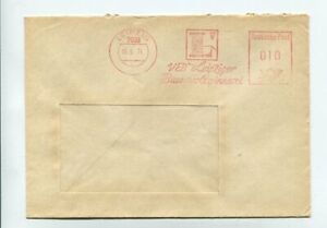 DDR Brief Absenderfreistempel Leipzig 15.5.74 VEB Leipziger Baumwollspinnerei