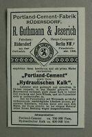 AuK5) Werbung Anzeige Berlin 1902 R.Guthmann & Jeserich Protland-Cement-Fabrik