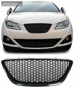 For Seat Ibiza 6J 2008-2012 Front Honeycomb Grill Black